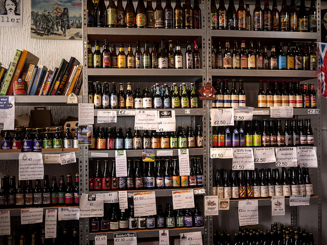 They have a huge selection of (mostly) Dutch beers.