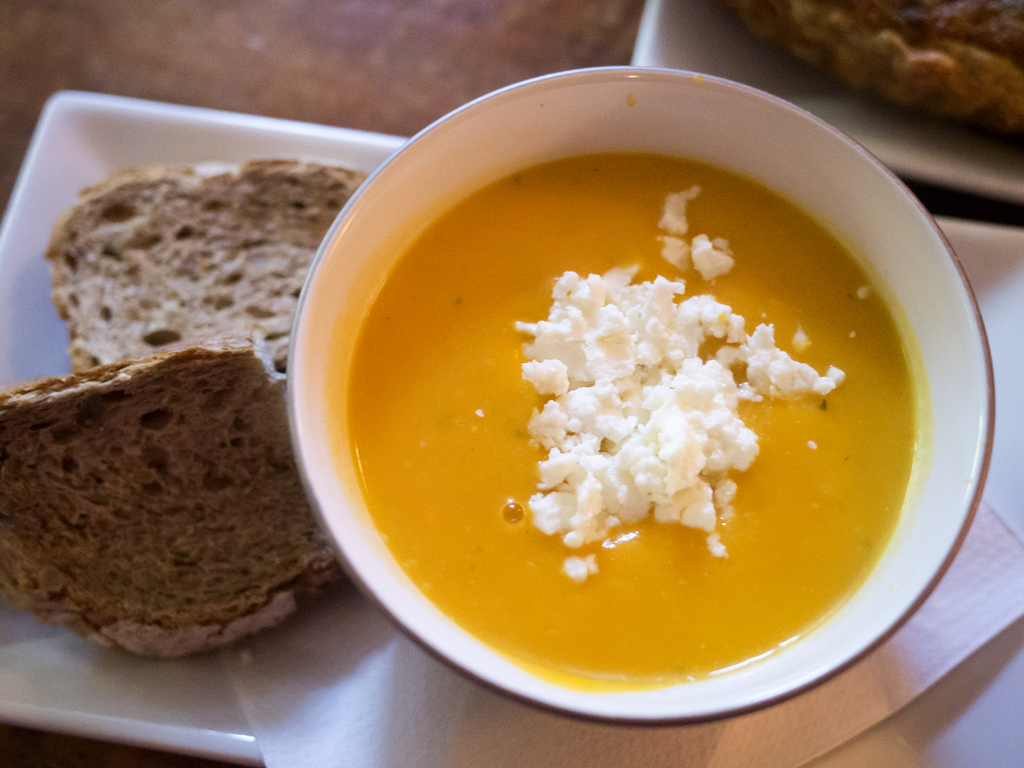 pumpkin and feta soup