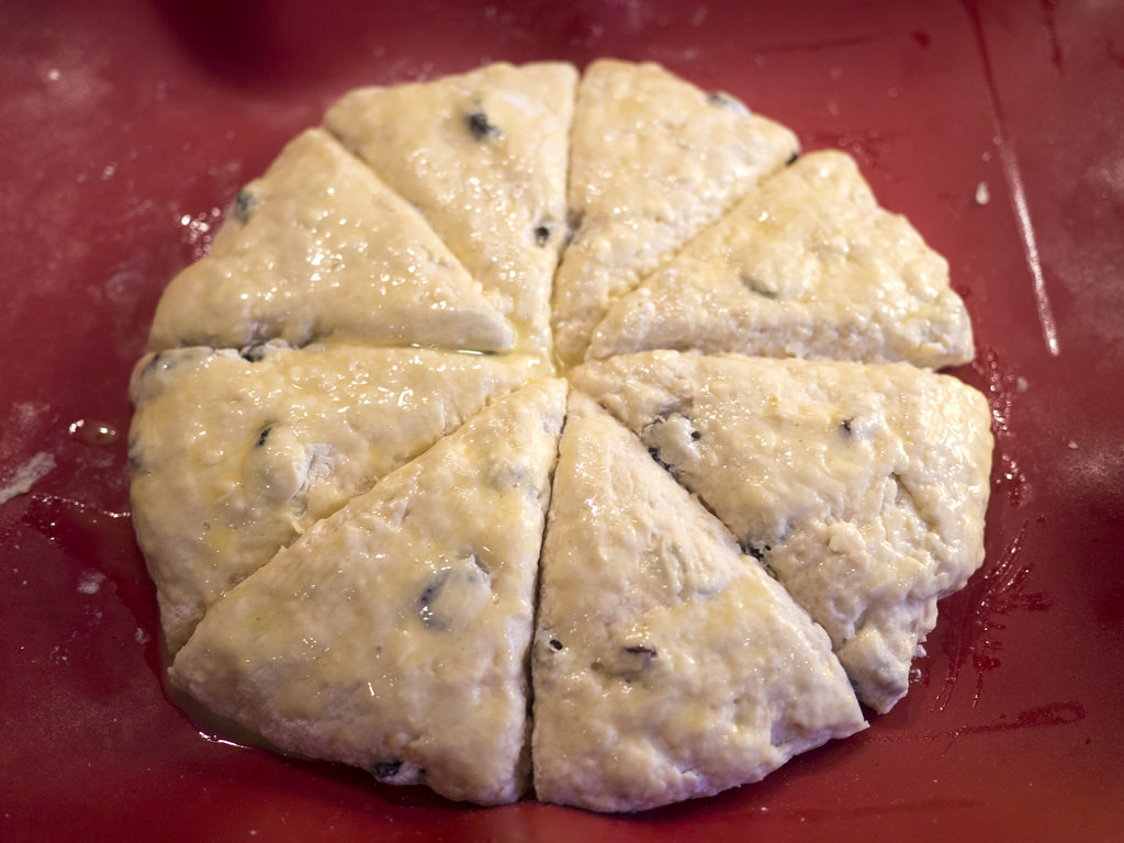 Scones: ready for the oven.