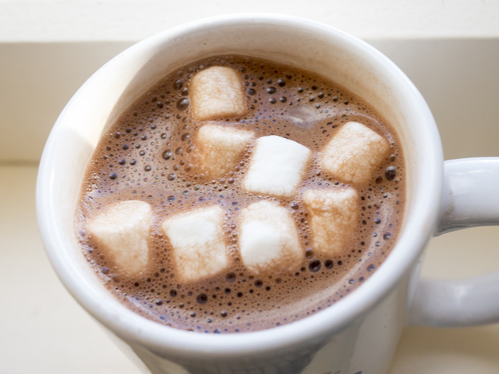 Whip 1/3 cup mix into a hot mug of milk and enjoy!