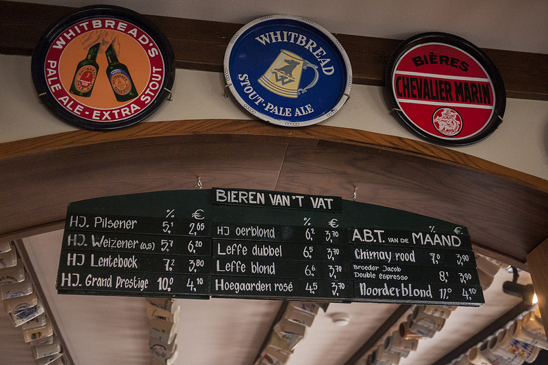 A few of the beers on offer at the Hertog Jan pub.