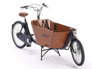 The Babboe City bakfiets is one of the most affordable models available.