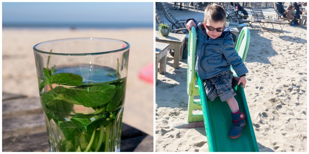 Mint tea, a view of the water and a slide for the little ones. What more do you need?