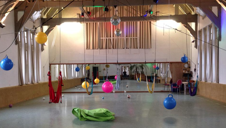 The Swing Gym, a large open space with swings and balls - perfect for energetic kids.