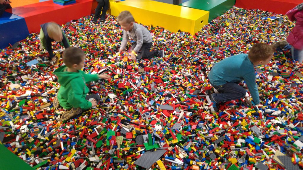 Swimming in LEGO, at LEGOWorld 2016 in Utrecht.